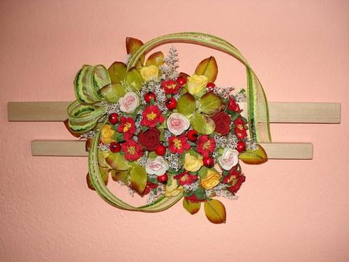 Růžičková vazba na zeď