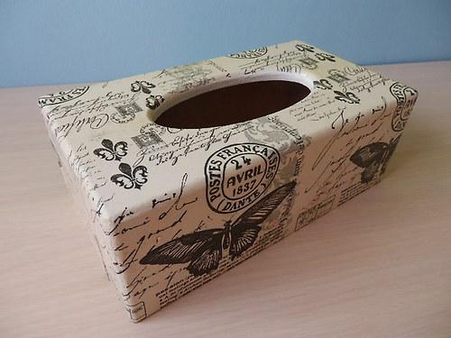 Krabička na kapesníky Černý Motýl