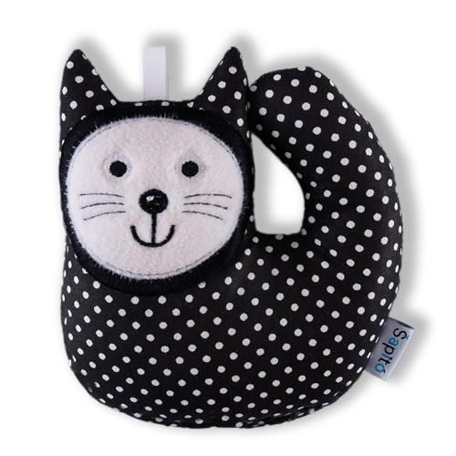Kotě - černý puntík / chrastítko