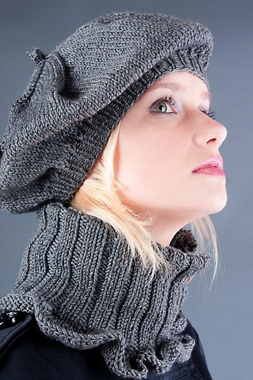 Popis - návod na na pletenou soupravu Parsienne