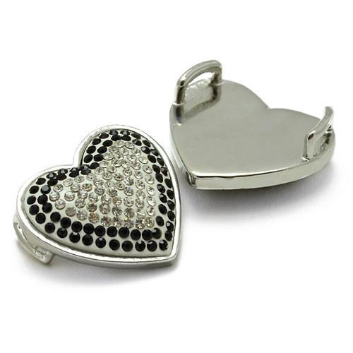 Černobílé srdce 30x30mm