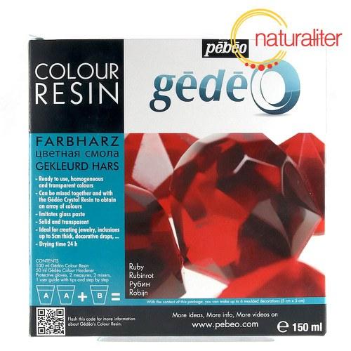 Křišťálová pryskyřice Gédeo barevná- červená 150ml
