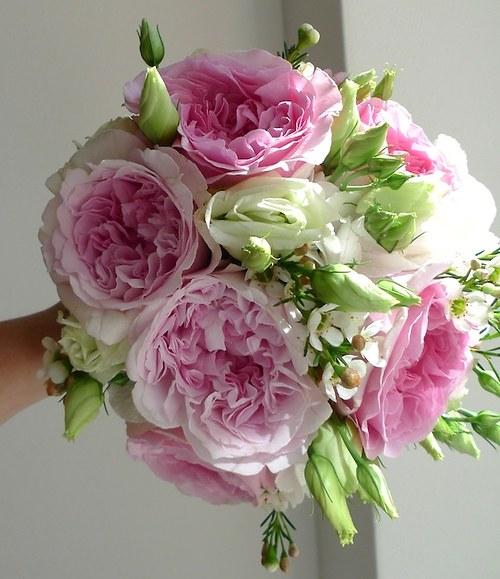 Svatební kytice z růží Austin David