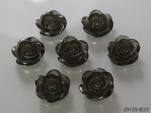 20129-B25 Kabošon květ 18/7 ČERNÝ, bal. 2ks