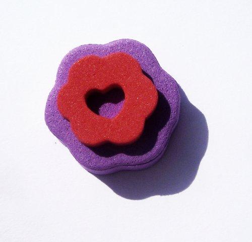 Pěnové razítko srdíčko s květinkou