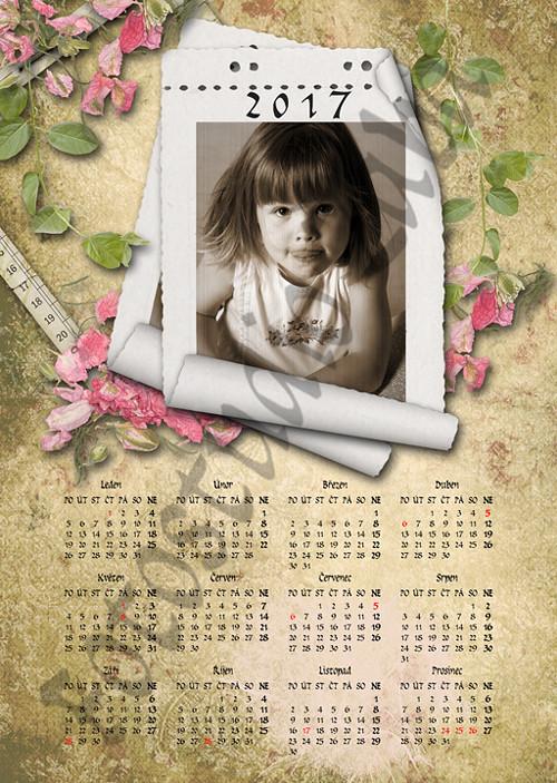 Roční scrapbookový kalendář z vaší fotografie 108