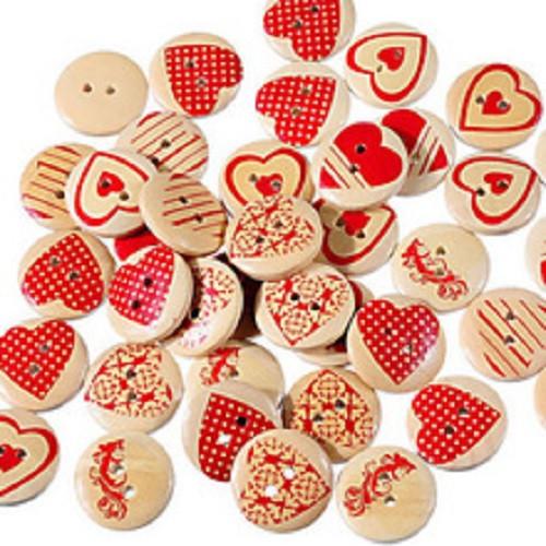 Srdíčkové knoflíky Mix