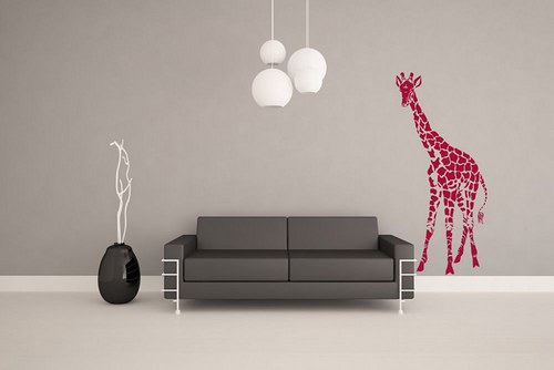 Žirafa 95x43cm Nálepka na stenu 3116n