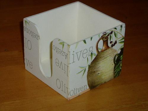 Zásobník na bločky Olivové zátiší