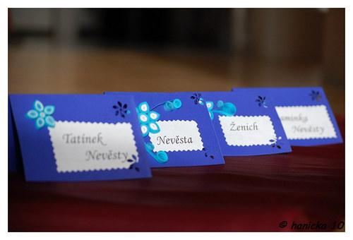 Svatební jmenovky -  fialové