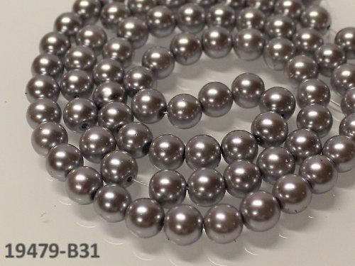 19479-B31 Lux. voskovky 10mm STŘÍBRNÉ, bal.10ks