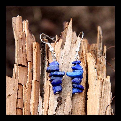 Náušnice Zlomky - Lapis Lazuli...