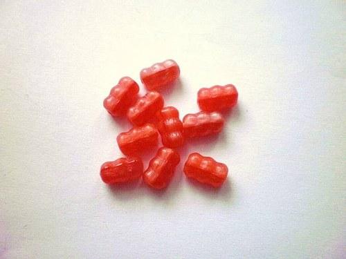 skleněné korálky tvarované 10 x 5 mm  10 kusů