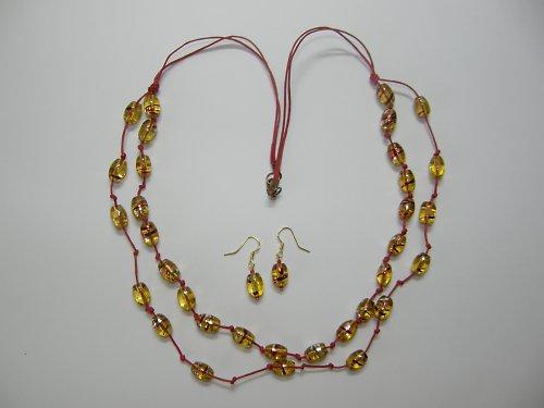 Sada náhrdelník, náušnice