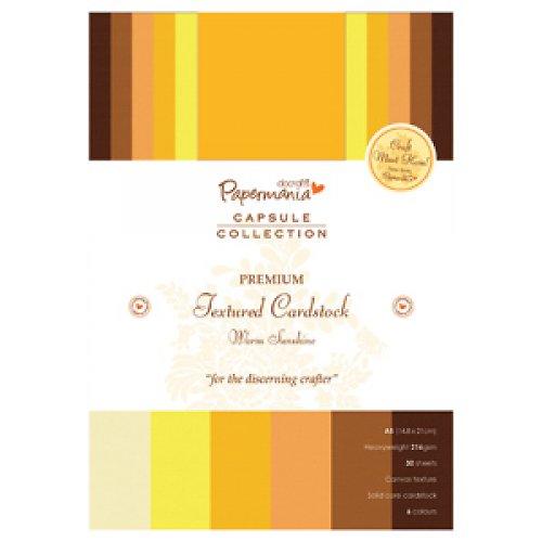 PREMIUM Textured Cardstock A5  - Sunshine
