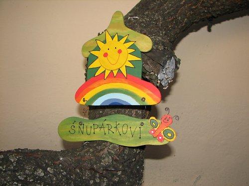 Dřevěná cedulka na dveře SLUNÍČKOV