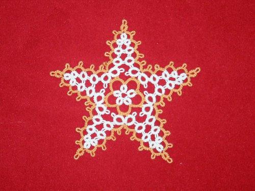 Frivolitkovaná hvězda