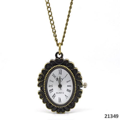 21349 Vintage hodiny s lůžkem, vč.82cm řetízekku