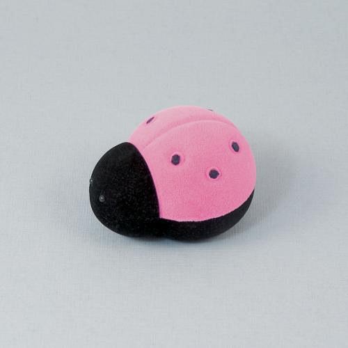 Sametová krabička na šperky - růžová beruška