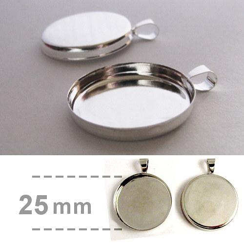 Hluboké lůžko kruhové (25mm) - stříbrná barva
