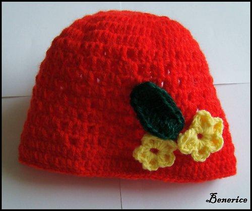 Čepice - červená se