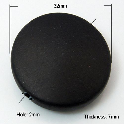 kolečko MATT pogum/32mm/ černá/ 2ks