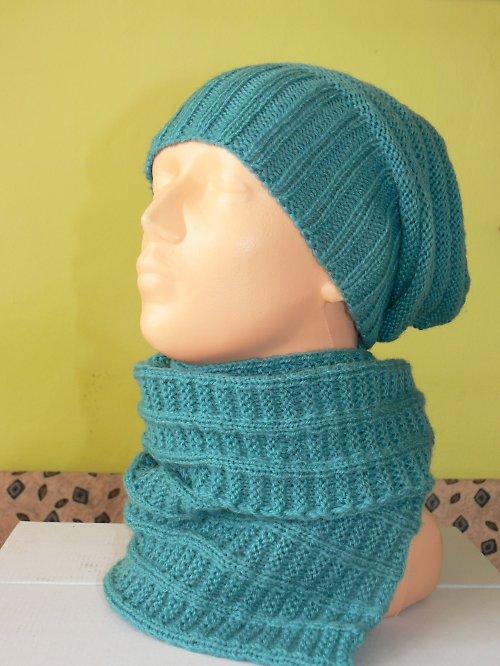 čepice s šálou