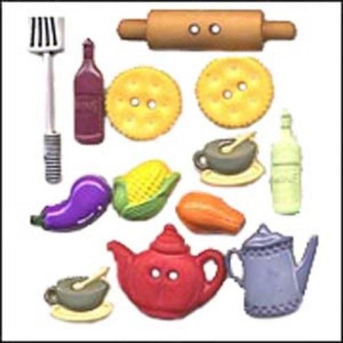 Plastové knoflíčky - Kitchen