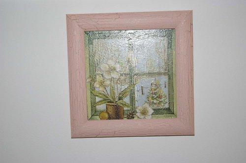 Zimní okno se výhledem zahrady