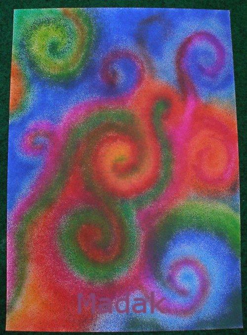 spirálková abstrakce - originál (A3) -AKCE z 450,-