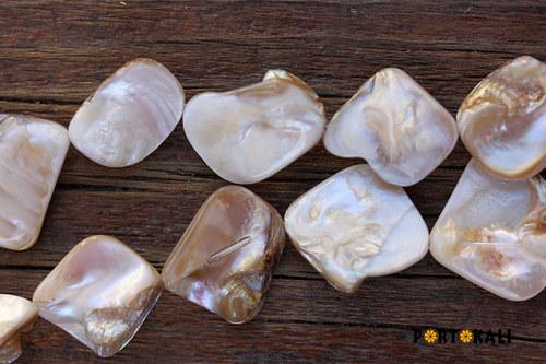 Perleťové korálky krémové 4 ks