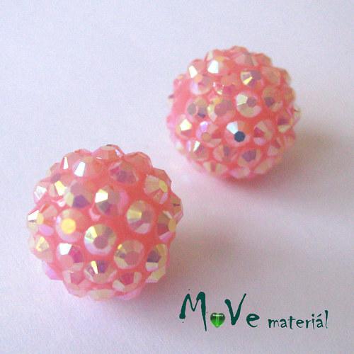Pryskyřičný korálek - kulička 16mm,1ks, růžová
