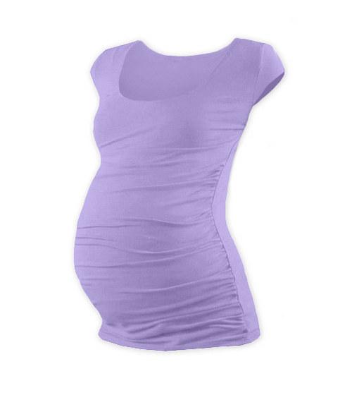 Těhotenské tričko mini rukáv levandulkové