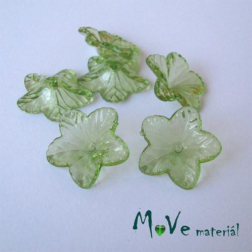 Akrylový květ 18mm, 6ks, zelený