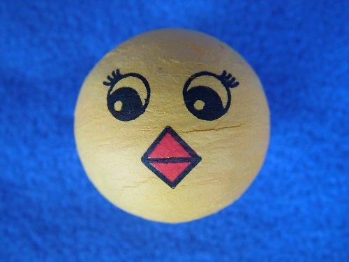 hlavička - kuře, ptáček - žlutá vatová kulička