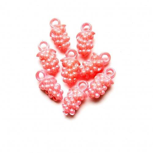 Akrylové hrozny růžové 3 ks