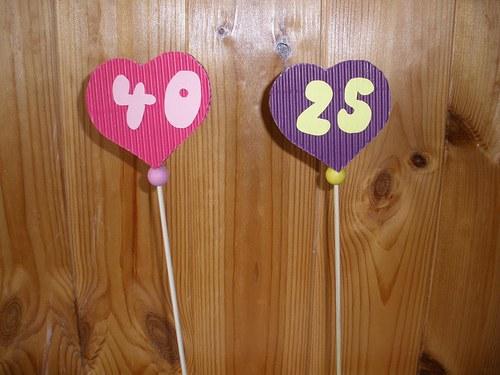 Srdíčko k narozeninám-zápich