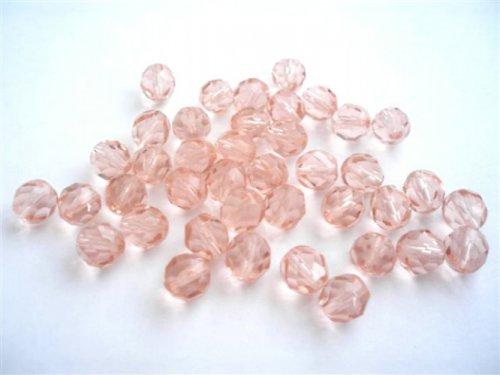Broušené perle rozalín