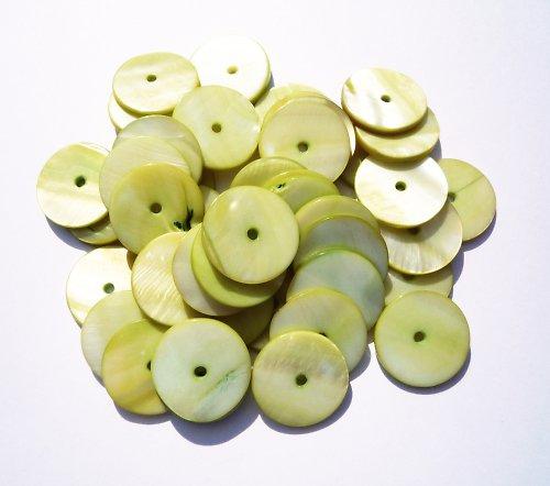 Zelená perleťová kolečka (4 ks)