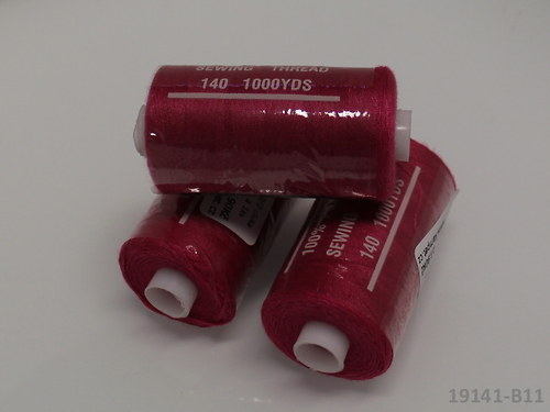 19141-B11 Nitě polyesterové 40/2 1000y BORDÓ