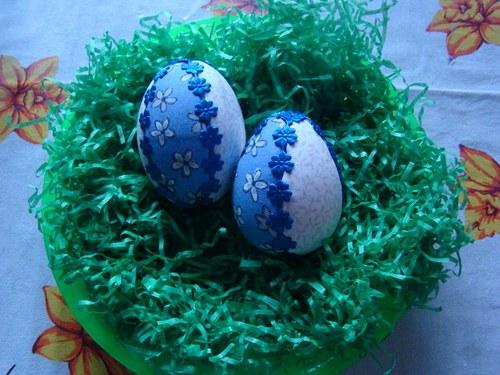 Vajíčko modré s kytkou