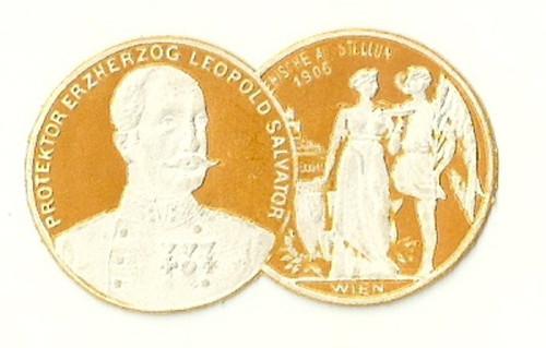 Medaile ocenění Výstava Vídeň 1906 Leopold