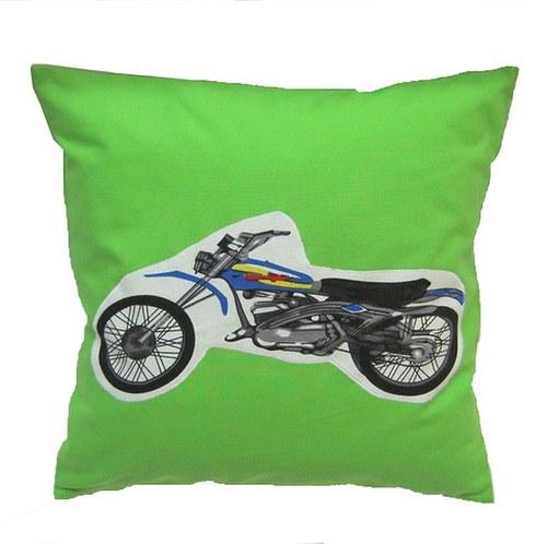 Povlak na polštářek s motorkou