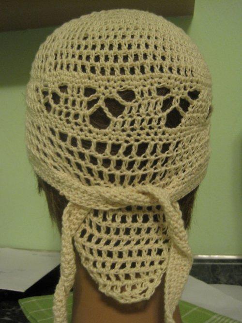 Bavlněná pohodlná čepule na zavazování