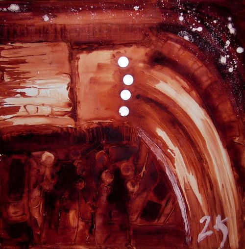 Abstraktní obraz 2K - Nadvláda mamo
