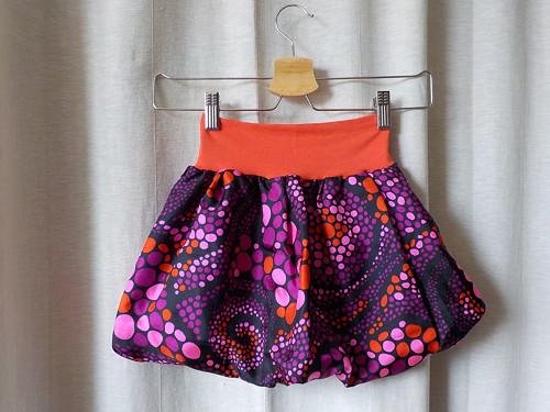 Detská balonová sukně- hodvábna víla