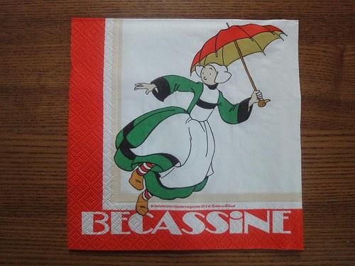 Ubrousek na decoupage - Becassine