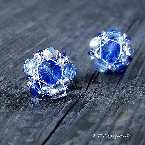 Náušničky Sapphire Flowers...
