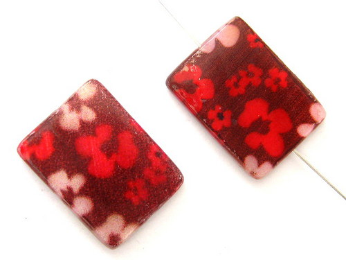 0705003/Perleťový obdélník s květy