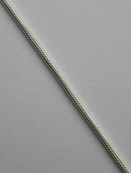 Kulatý stříbrný řetízek - délka 42cm